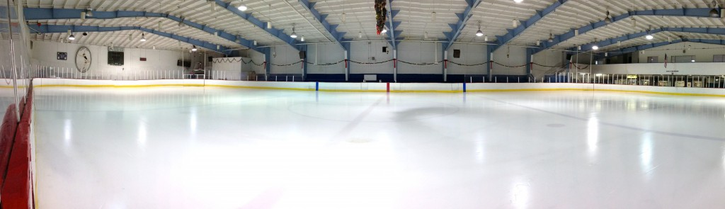 shiny rink ice